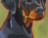 Doberman Pinscher No. 2 - magnets, coasters and art prints