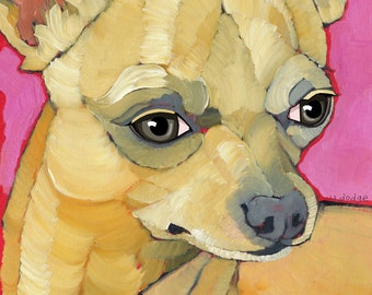 Chihuahua No. 5  - magnets, coasters and art prints