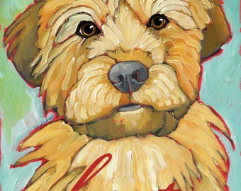 Wheaten Terrier No. 1 - Set of 6 Blank Cards with Envelopes in a Clear Sleeve