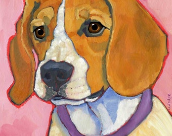 Beagle No. 1 - magnets, coasters and art prints in four sizes