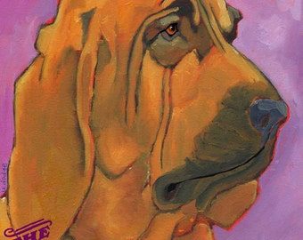 Bloodhound No. 1 - magnets, coasters and art prints in four sizes