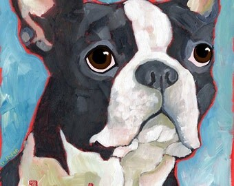 Boston Terrier No. 1 - magnets,coasters and art prints in four sizes
