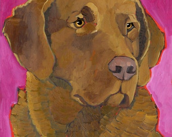 Chesapeake Bay Retriever No. 1 - magnets, coasters, blank notecards  and art prints