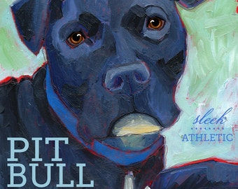 Pit Bull No. 1 - magnets, coasters and art prints