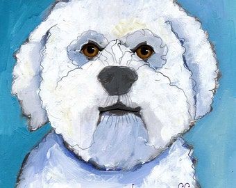Bichon Frise No. 1 - magnets, coasters and art prints in four sizes