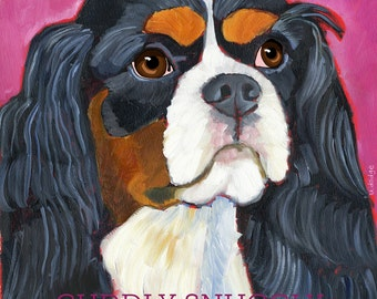 Cavalier King Charles No. 2 - Tri color  set of 6 blank notecards with coordinating envelopes