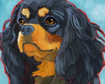 Cavalier King Charles No. 4 - magnets, coasters and art prints black and tan