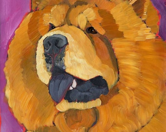 Chow chow No. 1 -  magnets, coasters, art prints, metal signs, blank notecards