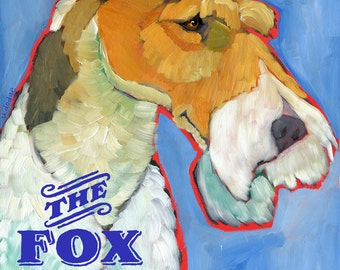 Fox Terrier No. 2 - magnets, coasters and art prints