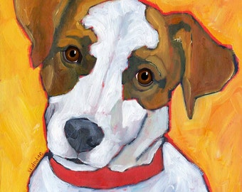 Jack Russell No. 2- magnets, coasters and art prints