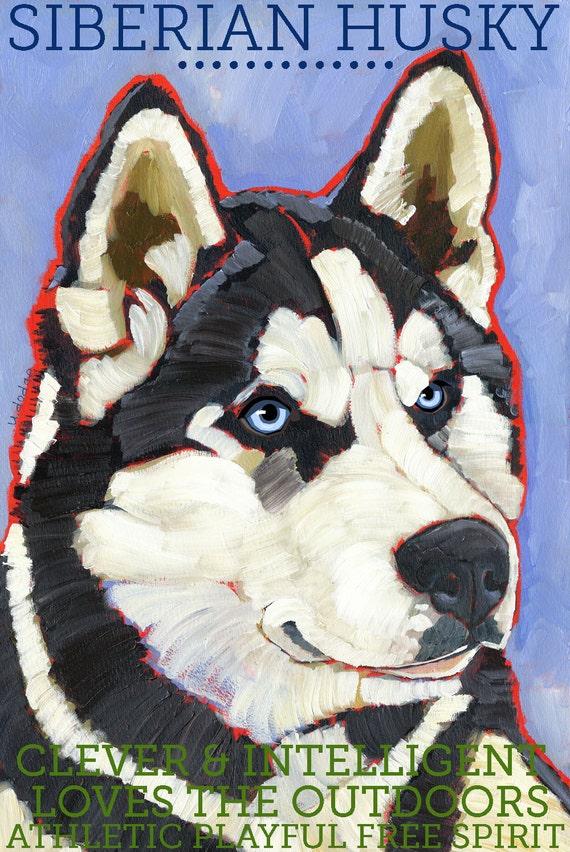 Siberian Husky No. 1 - magnets, coasters and art prints