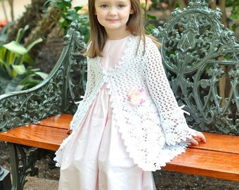 CROCHET PATTERN Magnolia Lace Coat Crochet Pattern Easter Sz 2-12 PDF, eBook Instant Download