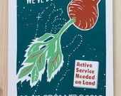 We've Done it Before - 12x18 flying beet screenprinted poster Limited Edition