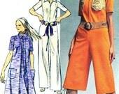 Womens Jumpsuit Pattern Simplicity 9213 Front Zip Womens Jumpsuit Vest Bolero 1970s Vintage Sewing Pattern Junior Teen Bust 32 1/2 Uncut