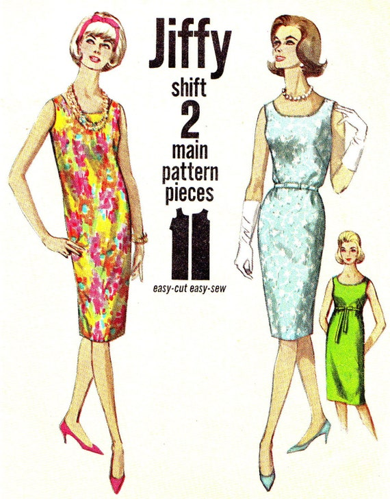 1960s Shift Dress Pattern Simplicity 5511 Mad by ... - photo#14