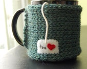 Tea Love Mug Cozy Knitted Chai Cup Cosy