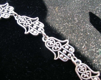 Chain of Hamsa, Hamsha, Khamsa to combine or separate for your projects JudaicaonEtsy, TeamESST, WWWG, OlympiaEtsy, REACT, GeekGirls