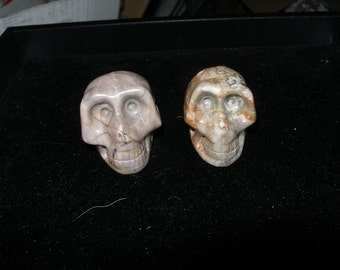 Skull  Carved Picasso jasper  - your choice   Team ESST, paganTeam, TeamBJD, WWWG, OlympiaEtsy, Halloween24/7