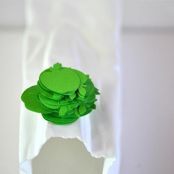 Confetti 100 Paper Apples Green Spring