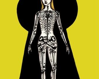 Skeleton Key - 8x10 archival giclee print