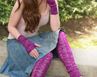 Fingerless Gloves and Footless Socks Knitting Pattern via Download