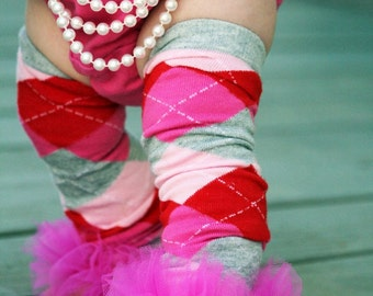 "School Girl Bunny Legs - girls ruffle tutu leg warmers- Perfect for crawling baby,  approx 12"" long"