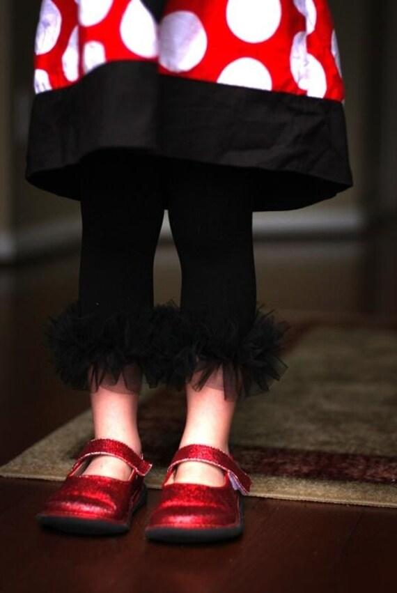 Black Girls Ruffle Tutu Leg Warmers - Perfect for Birthday, Costume, Photo Prop, Dress up, Fits Girls 6M-6X -