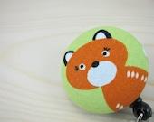 ID Badge Holder Retractable Badge Reel - Cute Fox