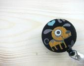 Retractable Badge Holder Cute Badge Reel ID Lanyard - Cute Brown Puppy