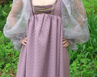 Custom made Renaissance Medieval Celtic Tudor wench gown dress costume