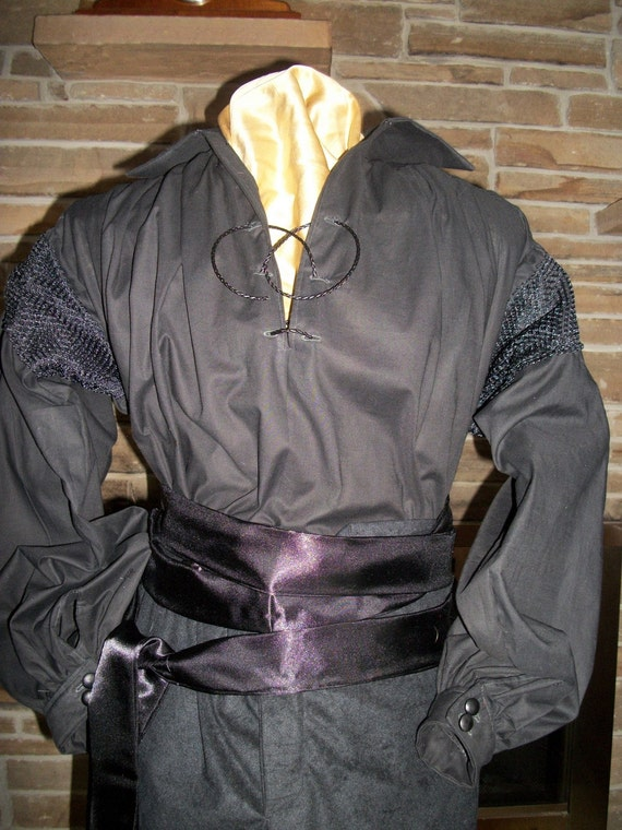 Custom made Wesley from The Princess Bride Zorro style shirt breeches sash and head scarf