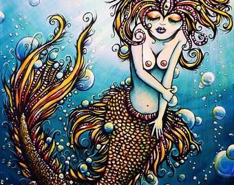 Mermaid Dreams giclee  canvas print