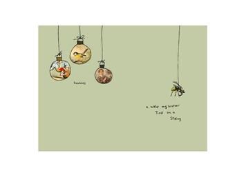 Christmas card: Wasp cc72 funny holiday greeting