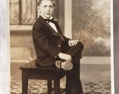 Antique RPPC of Handsome Young Man -- Vintage Real Photo Postcard