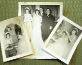 Vintage Wedding Photos, Lot of 3, 1940s