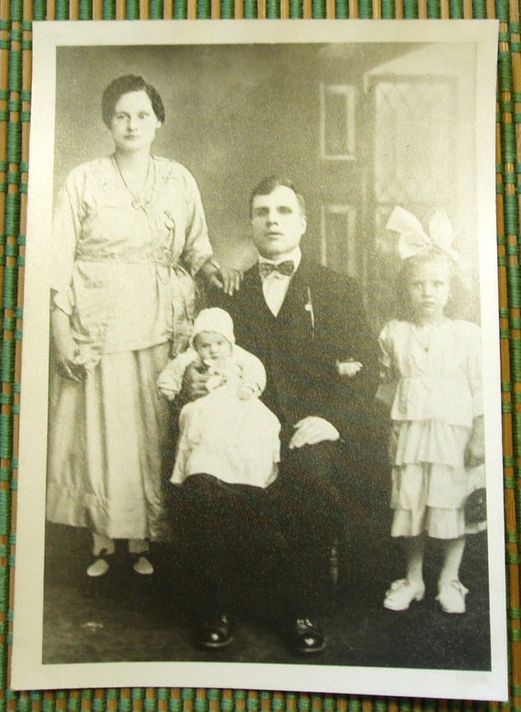 Antique Family Photo, Dour Faces, Very Old
