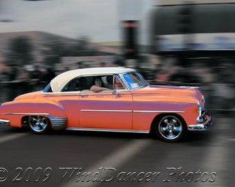 Family Cruise - 9 x 12 Fine Art Photograph - Classic Car Photo - Hot August Nights - Reno - Americana - Retro - Family -