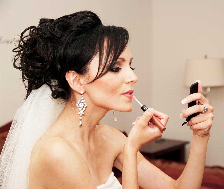 Chandelier Earrings Floral Wedding Earrings Dramatic Bridal