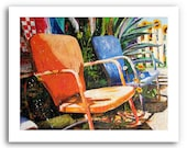 """Metal Lawn Chairs Art """"Relax"""" Prints Signed and Numbered"""
