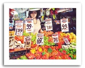 Vegetable Stand Market Art Prints Signed and Numbered