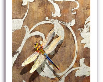 """Dragonfly Art """"Dragonfly Shadow"""" Prints Signed and Numbered"""