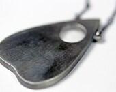 Mini planchette oracle necklace.