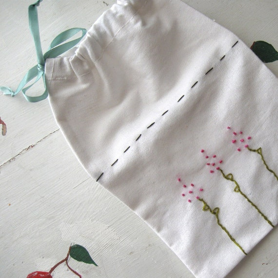 """DRAWSTRING POUCH JEWELRY Travel Makeup Bridesmaids Gift Bag  """"French Lavender"""""""
