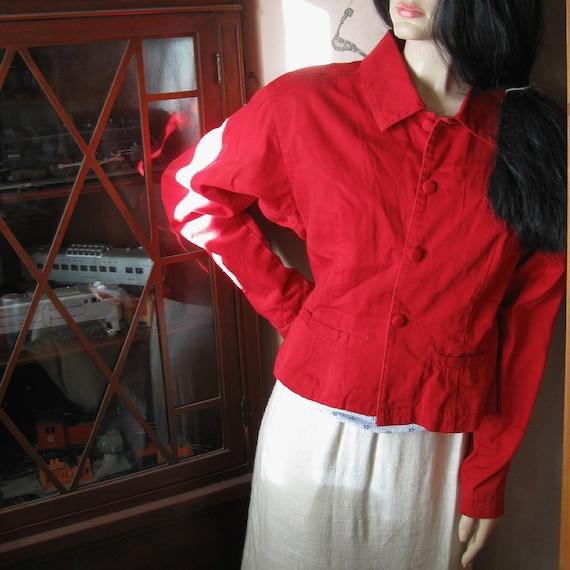 VINTAGE JACKET RED Esprit Seventies