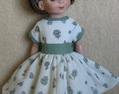 For 14 Inch Betsy McCall Doll - Dress From Paper Dolls - Betsy's Thanksgiving Day 1956