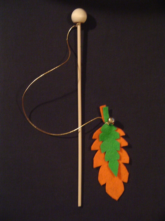 Felt Feather Cat Toy with Jingle Bell