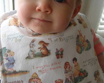 Easter Greetings Chenille Bib for Girls and Boys