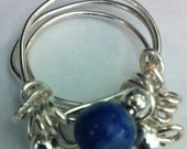 The Queendom Ring - Sterling Silver and Lapis Lazuli