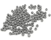 144 GunMetal Beads 4mm Stardust Sparkle Rounds Gun Metal Beads 4mm Beads Star Dust Beads Jewelry Beads for Jewelry Making (FSGM52)
