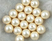 LIGHT GOLD 6mm Swarovski Pearl Beads Article 5810 6mm Pearls Crystal Pearls Light Butter Cream Yellow Pearls Jewelry Bead for Jewelry Making